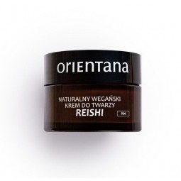 Orientana Naturalny wegański krem do twarzy REISHI na noc - Reishi night . 50 ml.