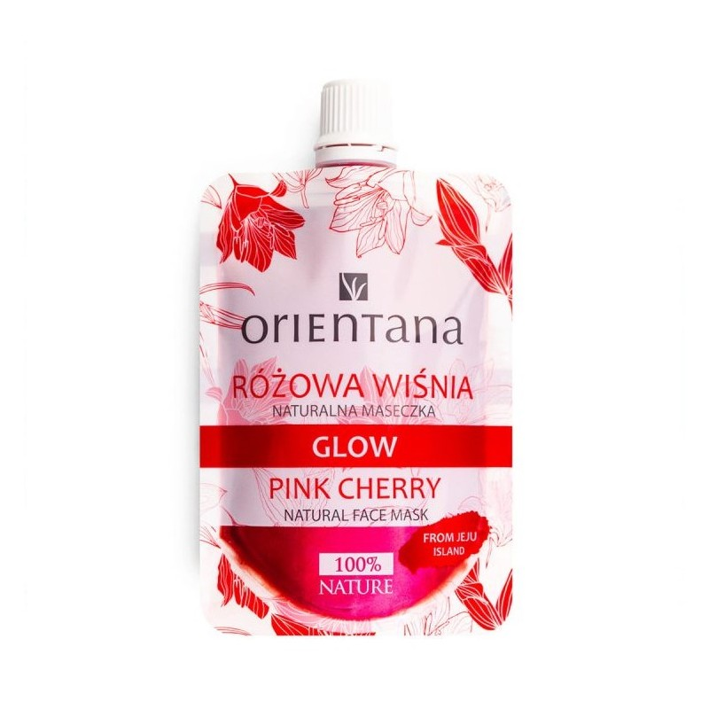 Orientana Naturalna maseczka redukująca zaczerwienienia GLOW Różowa Wiśnia. 30 ml.