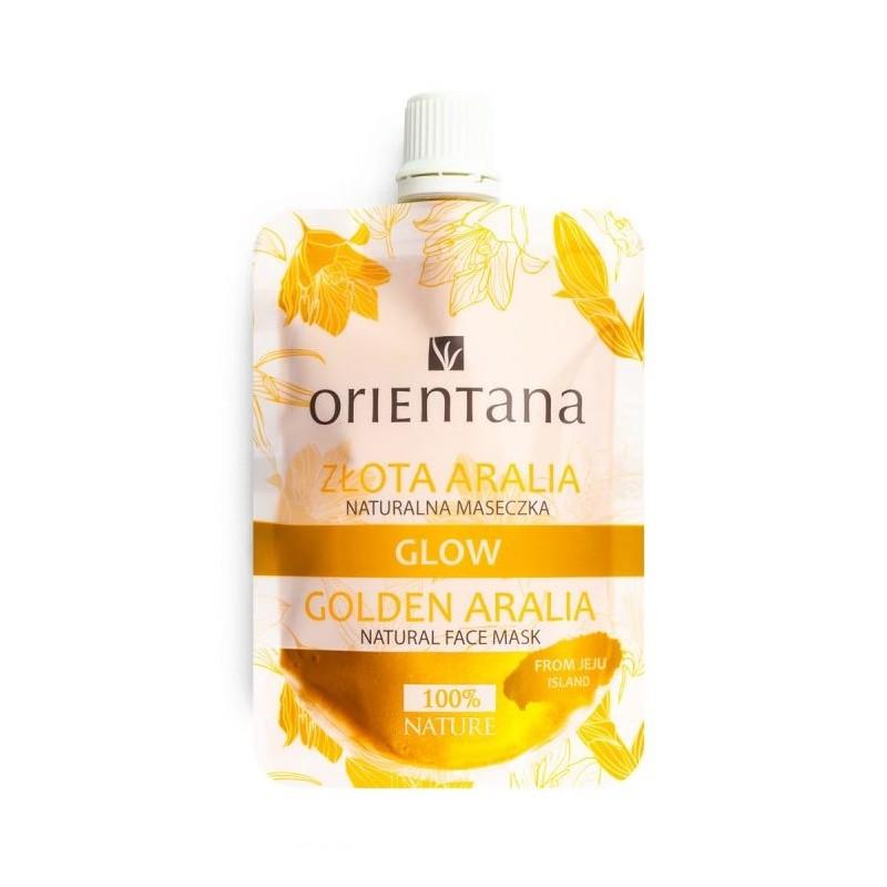 Orientana Naturalna maseczka przeciwstarzeniowa GLOW Złota Aralia. 30 ml.