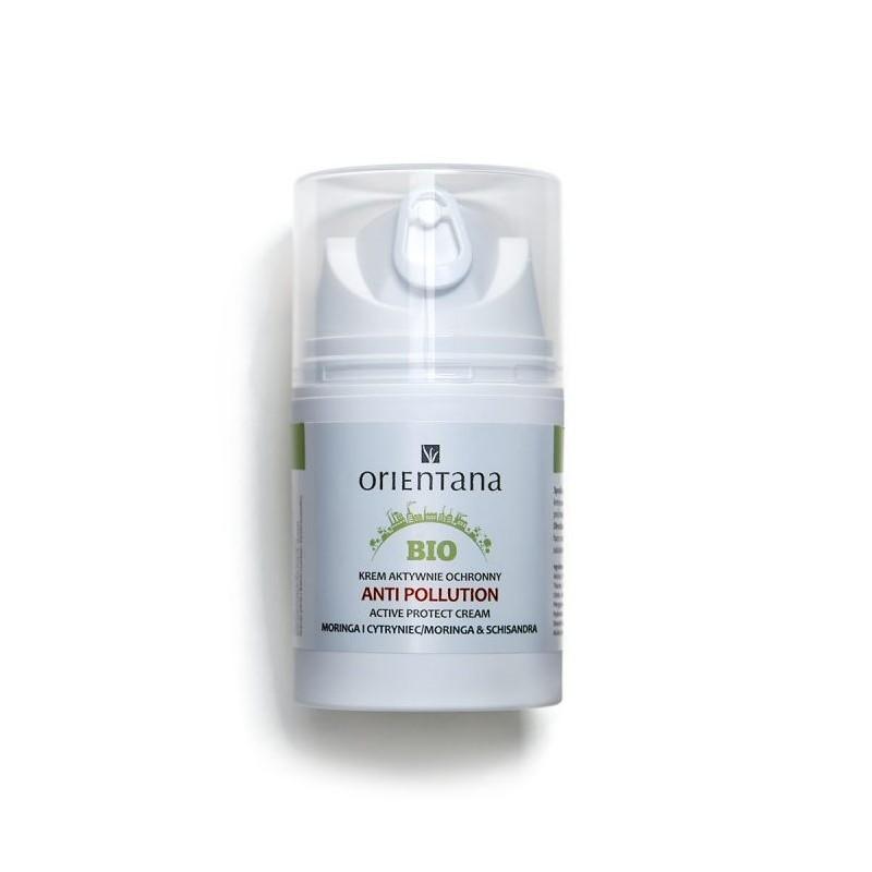 Orientana Naturalny krem antysmogowy Meringa i Cytryniec. 50 ml.