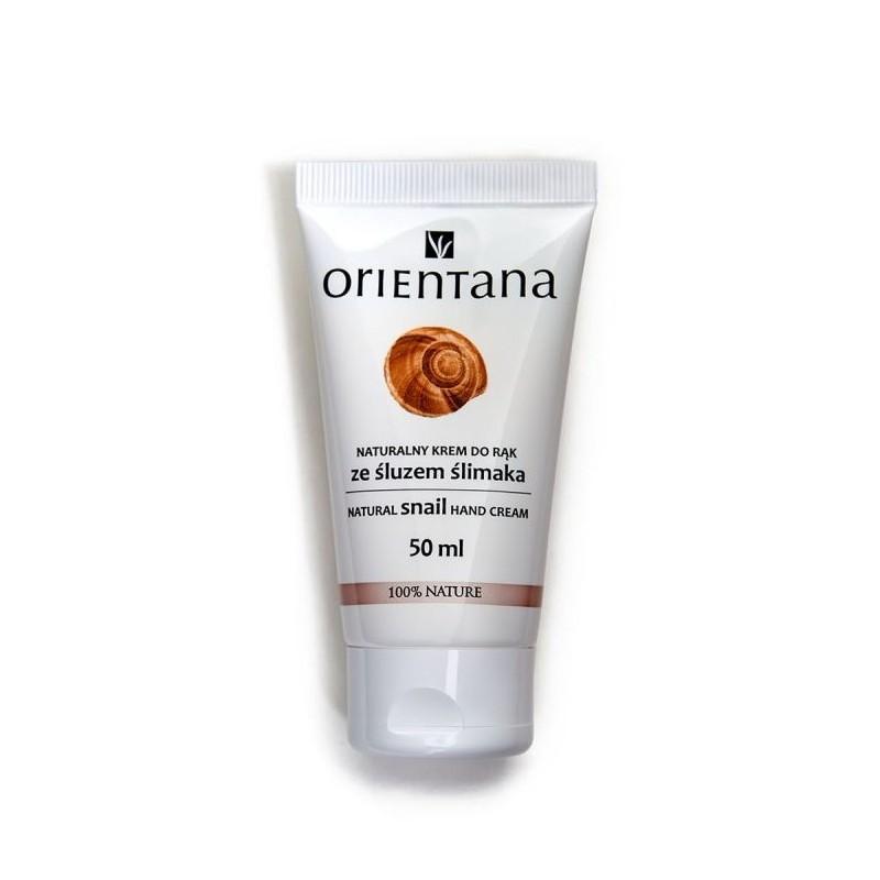 Orientana Naturalny krem do rąk ze śluzem ślimaka. 50 ml.