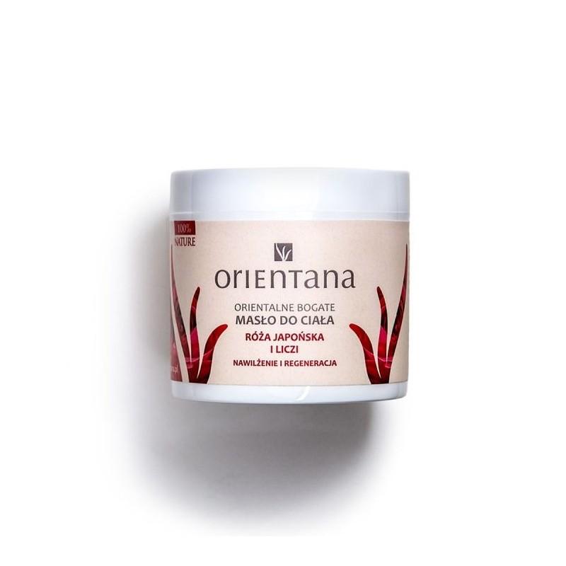 Orientana Orientalne bogate masło do ciała Róża Japońska i Liczi. 100 g.