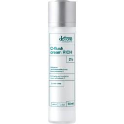 dottore c flush cream rich intensywnie przeciwzmarszczkowy krem z 2% witaminą c i olejem z awokado 50ml