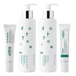 dottore zestaw oczyszczający sensitore aqua sensitive sensitore gel hydratore 15ml novo 15ml