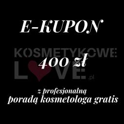 E-kupon upominkowy 400zł  z profesjonalną konsultacją kosmetologa